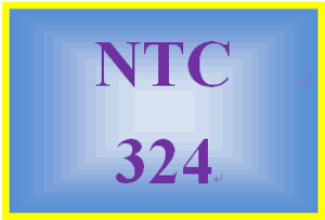 NTC 324 Entire Course | eBooks | Education