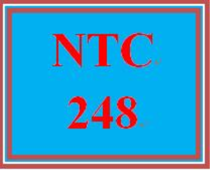 NTC 248 Week 1 Individual: IP Configuration, Routing, and Network Customization | eBooks | Education