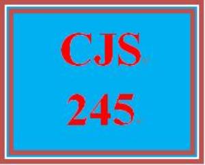 cjs 245 entire course