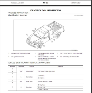 2016 nissan frontier d40 service repair manual & wiring diagram