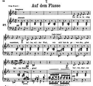 Auf dem Flusse D.911-7, Low Voice in C minor, F. Schubert | eBooks | Sheet Music