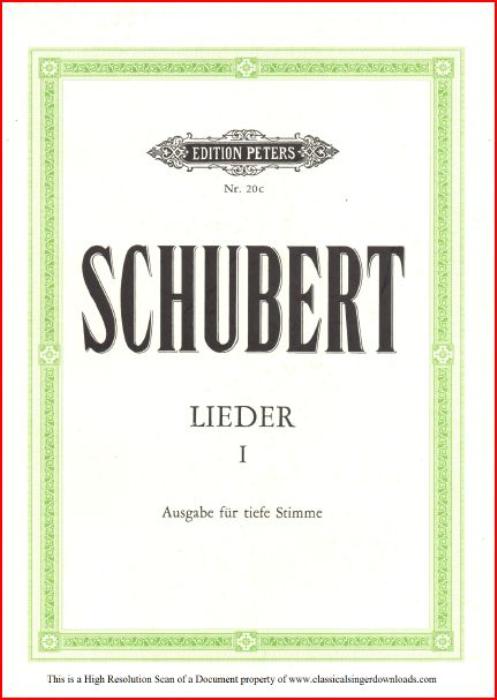 First Additional product image for - Danksagung an den Bach, D.795-4, Low Voice in E Flat Major, F. Schubert (Die Schöne Müllerin), Pet