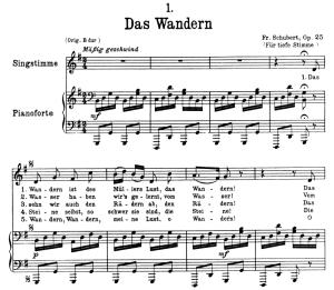 Das Wandern, D.795-1, Low Voice in G Major, F. Schubert (Die Schöne Müllerin), Pet | eBooks | Sheet Music