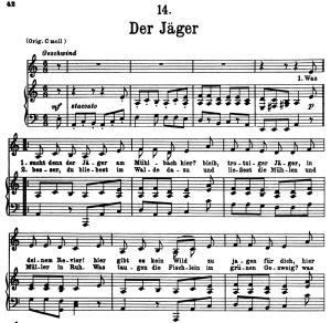Der jäger, D.795-14, Low Voice in A Minor, F. Schubert (Die Schöne Müllerin), Pet | eBooks | Sheet Music