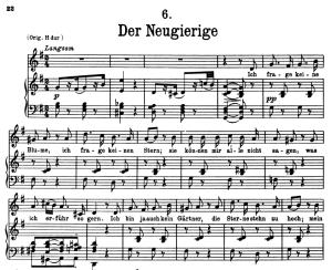Der Neugierige, D.795-6 , Low Voice in G Major, F. Schubert (Die Schöne Müllerin), Pet | eBooks | Sheet Music