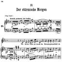 Der Stürmische Morgen, D.911-18 , Low Voice in C minor, F. Schubert | eBooks | Sheet Music