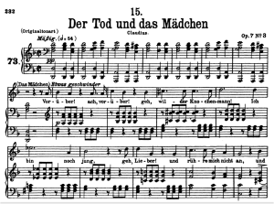 Der Tod und das Mädchen, D.774 , Low Voice in D minor, F. Schubert. | eBooks | Sheet Music