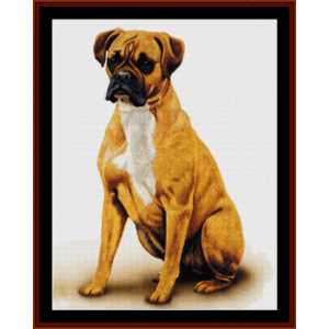 Boxer (New Edition) cross stitch pattern by Cross Stitch Collectibles | Crafting | Cross-Stitch | Wall Hangings