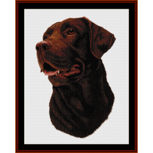 Chocolate Labrador (New Edition) cross stitch pattern by Cross Stitch Collectibles | Crafting | Cross-Stitch | Wall Hangings