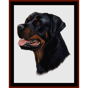 rottweiler (new edition) cross stitch pattern by cross stitch collectibles