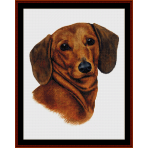 Dachsund (New Edition) cross stitch pattern by Cross Stitch Collectibles | Crafting | Cross-Stitch | Wall Hangings