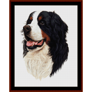 Bernese Mt. Dog (New Edition) cross stitch pattern by Cross Stitch Collectibles | Crafting | Cross-Stitch | Wall Hangings