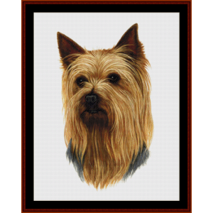 yorkshire terrier (new edition) cross stitch pattern by cross stitch collectibles