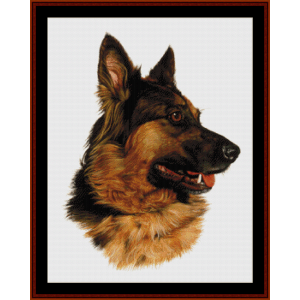 german shepherd (new edition) cross stitch pattern by cross stitch collectibles