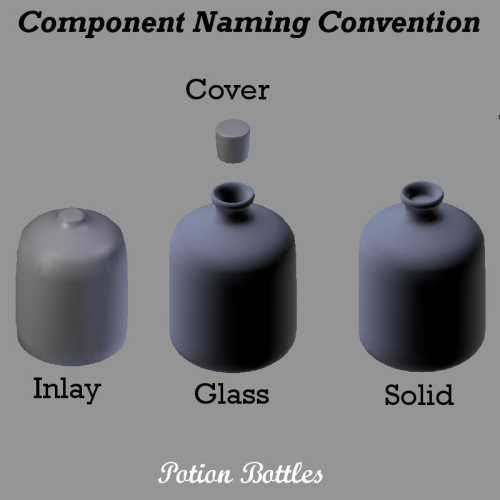 Third Additional product image for - POTION BOTTLES for Game Dev (BLEND, DAE, FBX, OBJ)