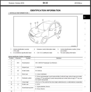 nissan micra k13 2016 service & repair manual & wiring diagram