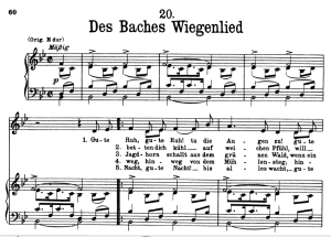 des baches wiegenlied, d.795-20 , low voice in b-flat major, f. schubert (die schöne müllerin), pet
