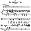 Des Mädchen's Klage, D.191 , Low Voice in B-Flat minor, F. Schubert | eBooks | Sheet Music