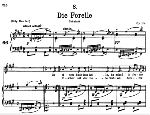 Die forelle, D.550, Low Voice in A Major, F. Schubert | eBooks | Sheet Music