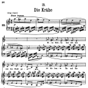 Die Krähe, D.911-15, Low Voice in A minor, F. Schubert | eBooks | Sheet Music