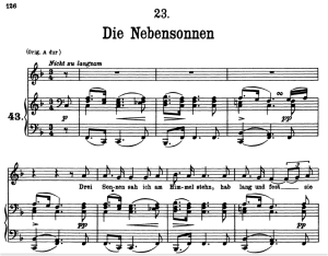 die nebensonnen, d.911-23, low voice in f major, f. schubert