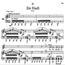Die Stadt, D.957-11, Low Voice in A minor, F. Schubert | eBooks | Sheet Music