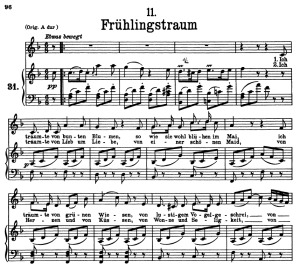 frühlingstraum d.911-11, low voice in f major, f. schubert (winterreise)