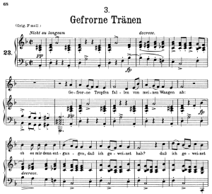 gefrorne tränen d.911-3, low voice in d minor, f. schubert (winterreise) pet.