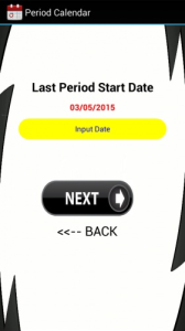 menstrual period calendar app
