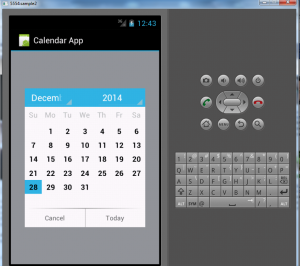 calendar application in android
