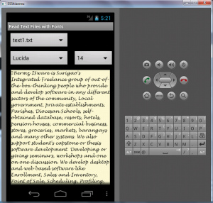 read text files with fonts in android