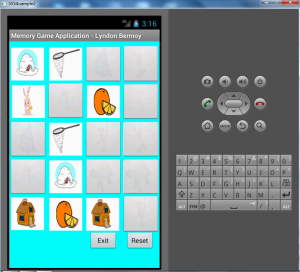 memory game application (android)