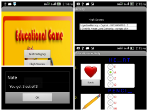 android quiz/test app with high scores v1.2
