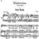 Gute Nacht D.911-1, Low Voice in B-Flat minor, F. Schubert | eBooks | Sheet Music