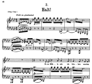 halt! d.795-3, low voice in a-flat major, f. schubert
