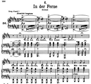 in der ferne d.957-6, low voice in g-sharp minor, f. schubert