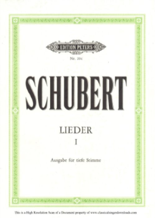 First Additional product image for - Kriegers Ahnung D.957-2, Low Voice in B-Flat minor, F. Schubert