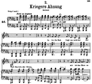 Kriegers Ahnung D.957-2, Low Voice in B-Flat minor, F. Schubert   eBooks   Sheet Music