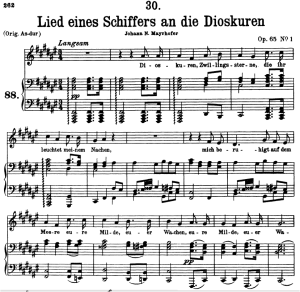 lied eines schiffers an die dioskuren d.360, low voice in f-sharp major, f. schubert