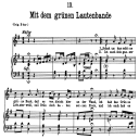 Mit dem grünen lautenbande D.795-13, Low Voice in G Major, F. Schubert (Die Schöne Müllerin), Pet | eBooks | Sheet Music