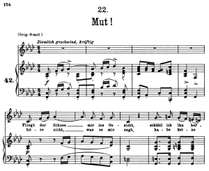Mut D.911-22, Low Voice in F minor, F. Schubert | eBooks | Sheet Music
