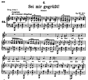 Sei mir gegrüsst! D.741, Low Voice in G Major, F. Schubert | eBooks | Sheet Music