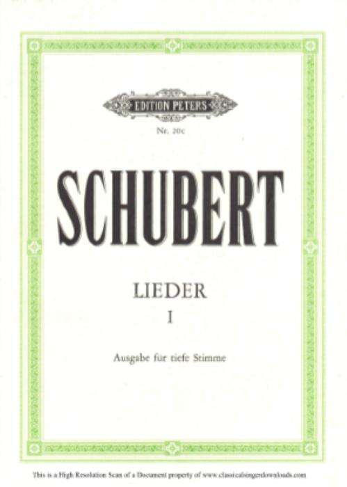 """First Additional product image for - Stândchen D.957-4, """"Leise flehen meine Lieder"""", Low Voice in B minor, F. Schubert"""