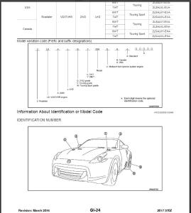 2017 nissan 370z z34 service & repair manual wiring diagram