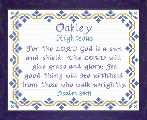 Name Blessings - Oakley | Crafting | Cross-Stitch | Religious