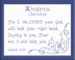 name blessings - rhodenia