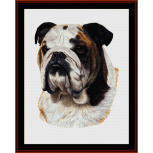 Bulldog (New Edition) cross stitch pattern by Cross Stitch Collectibles | Crafting | Cross-Stitch | Wall Hangings