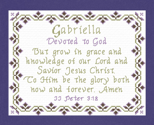 Name Blessings - Gabriella 3 | Crafting | Cross-Stitch | Religious