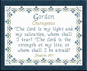name blessings - gordon