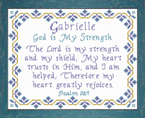 Name Blessings - Gabrielle | Crafting | Cross-Stitch | Other
